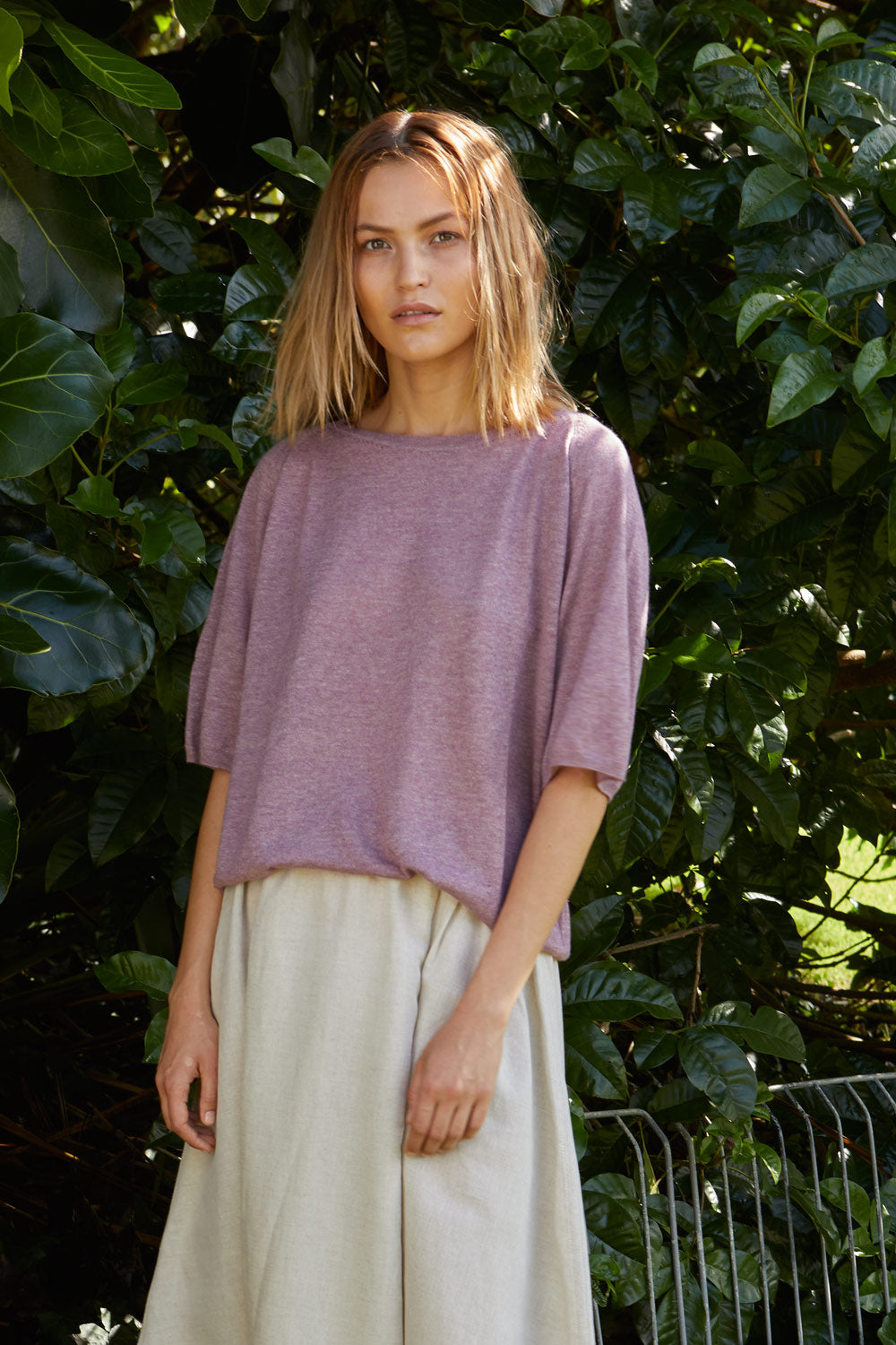 NZ Fashion Clothing Boutique gregorythelabel Gregory SS18 Linen Cashmere Imported Jalisco Jumper