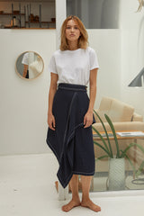 NZ Fashion Clothing Boutique gregorythelabel Gregory SS18 Alina Skirt Made in NZ
