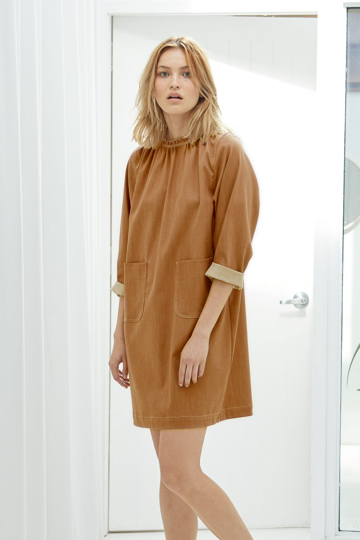 NZ Fashion Clothing Boutique gregorythelabel Gregory SS18 Pedro Dress Made in NZ