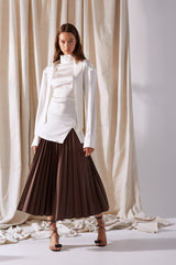 NZ Fashion Clothing Boutique gregorythelabel Gregory SS19 Crow Skirt Pleated Elastic Made in NZ
