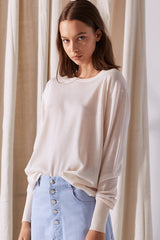NZ Fashion Clothing Boutique gregorythelabel Gregory SS18 Superfine Merino Imported Luis Jumper Cream