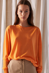 NZ Fashion Clothing Boutique gregorythelabel Gregory SS18 Superfine Merino Imported Luis Jumper Tangerine
