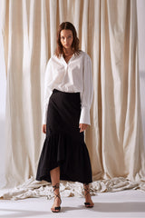 NZ Fashion Clothing Boutique gregorythelabel Gregory SS19 Bente Skirt Black Made in NZ