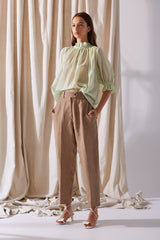 NZ Fashion Clothing Boutique gregorythelabel Gregory SS19 Penny Pant Biscuit Made in NZ