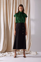 NZ Fashion Clothing Boutique gregorythelabel Gregory SS19 Maiken Skirt Black Made in NZ