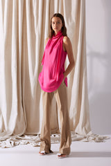 NZ Fashion Clothing Boutique gregorythelabel Gregory SS19 Ulla Top Hot Pink Made in NZ