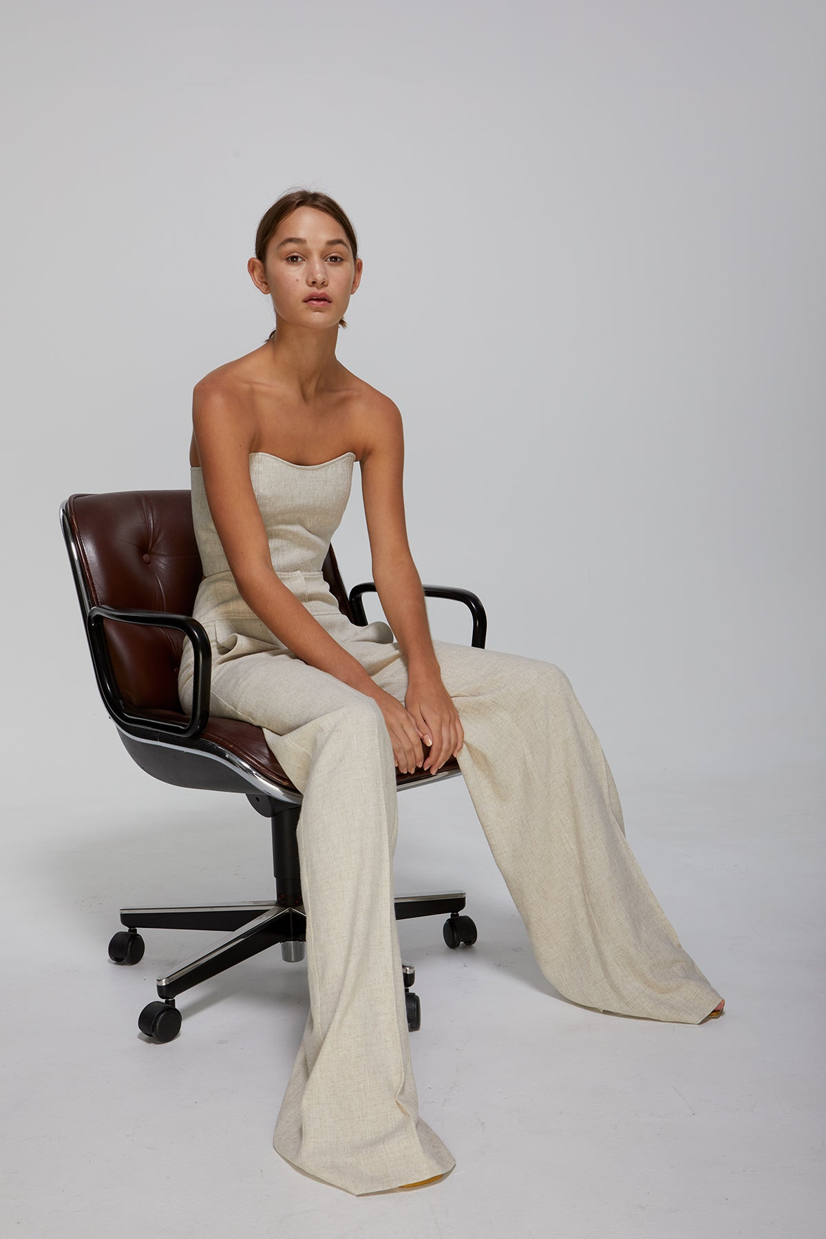 Blanche Pant Natural Linen Gregory SS20 Collection NZ Sustainable Fashion Design