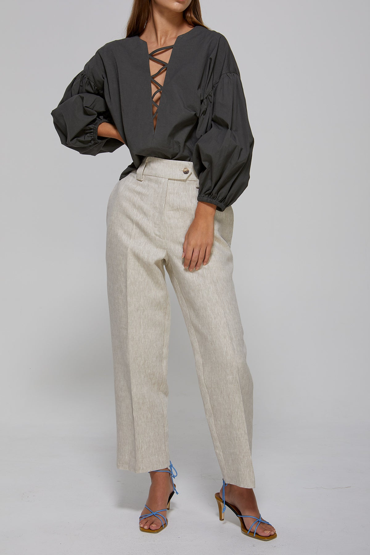 Penny Pant Natural Linen Gregory SS20 Collection NZ Sustainable Fashion Design