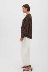 Thea Cardigan Dark Chocolate