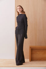 NZ Fashion Clothing Boutique gregorythelabel Gregory AW19 Mateo Pant Black Made in NZ
