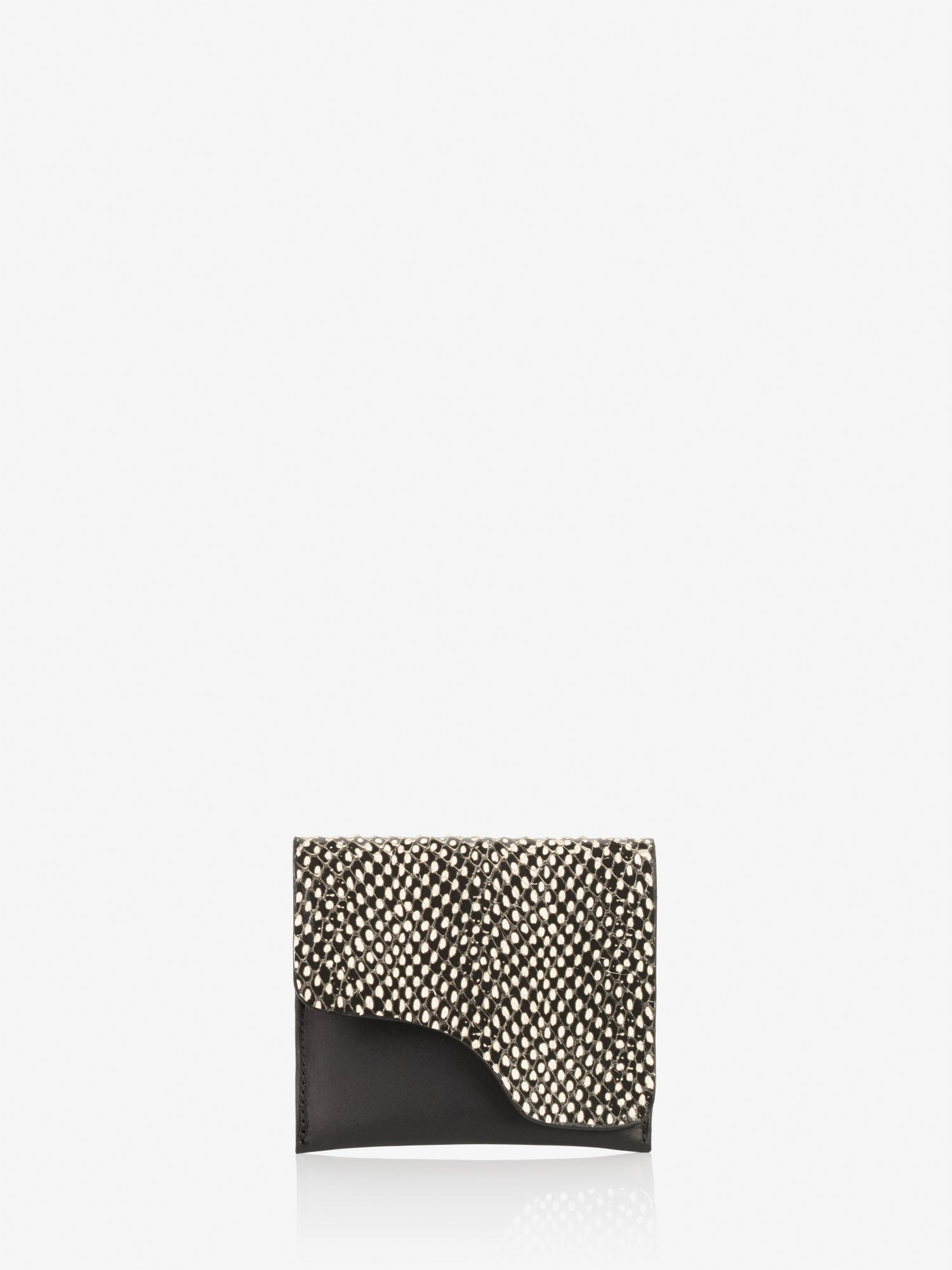 ATP Atelier Olba - Black White Dot Printed Snake Wallet