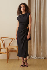 NZ Fashion Clothing Boutique gregorythelabel Gregory AW20 Made in NZ Renee Dress DD10459