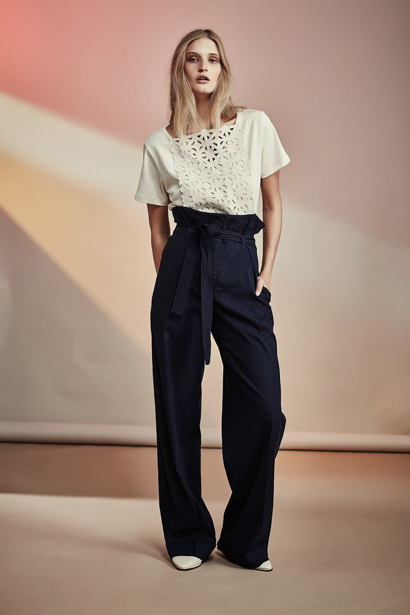 Menlo Pants NZ Fashion gregorythelabel SS16/17 Classic Paperbag Waist Tie Belt Pants Trousers Made in New Zealand