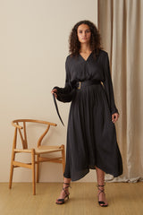 NZ Fashion Clothing Boutique gregorythelabel Gregory AW20 Made in NZ Rohe Dress DD10452