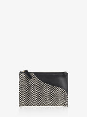 ATP Atelier Tino - Black White Dot Printed Snake Clutch