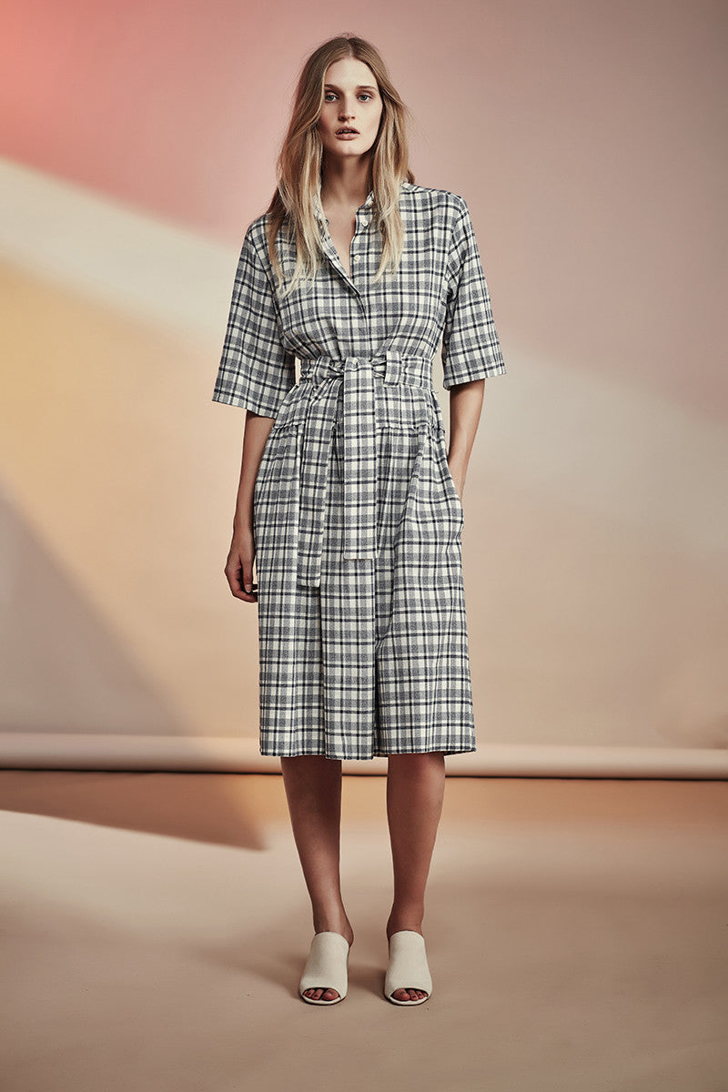 Winton Dress NZ Fashion gregorythelabel SS16/17 Cotton Shirt Dress Ethical Fashion Made in New Zealand