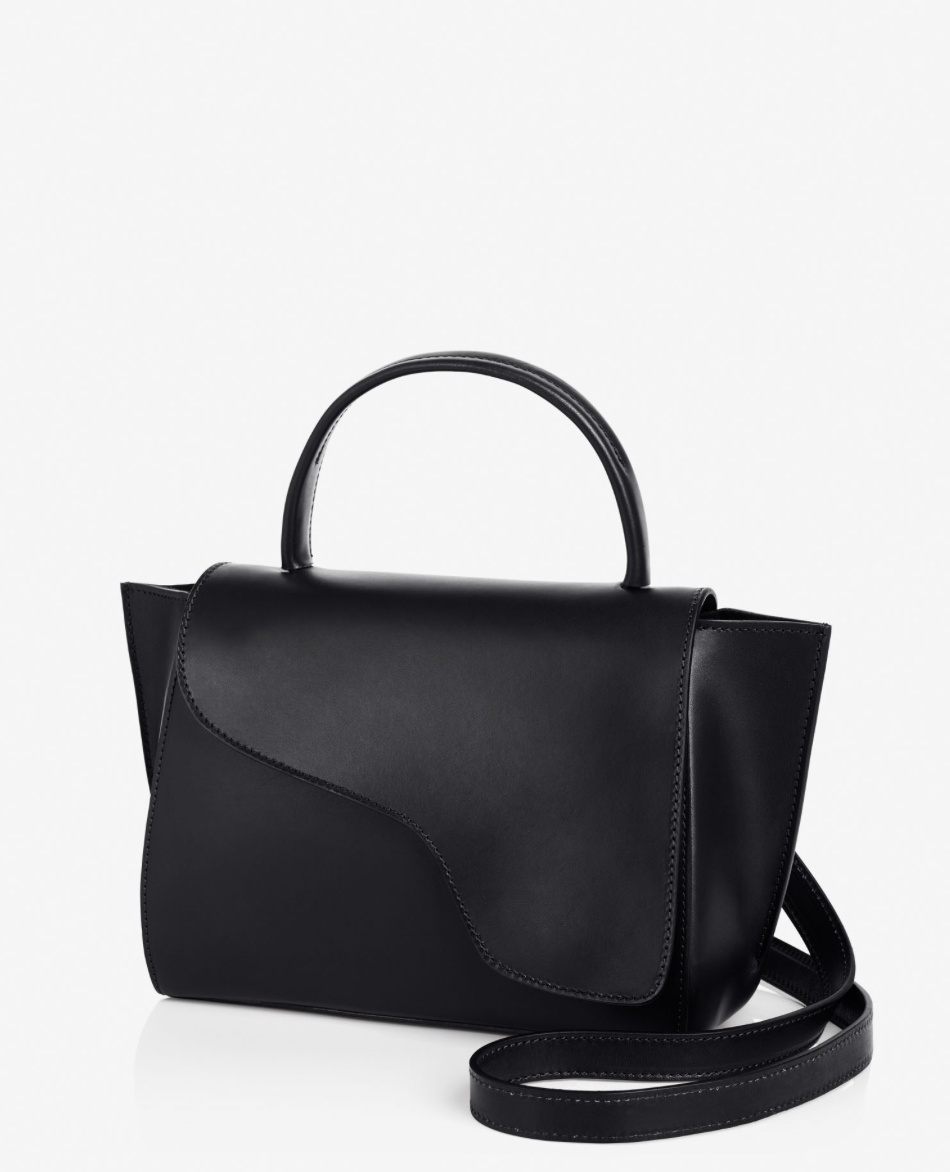 ATP Atelier Arezzo Black Vachetta Leather Bag