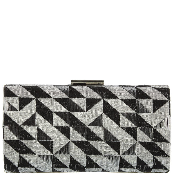 Paulina pattern box clutch
