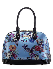 Blue Paradise Faux leather Zip around Handbag