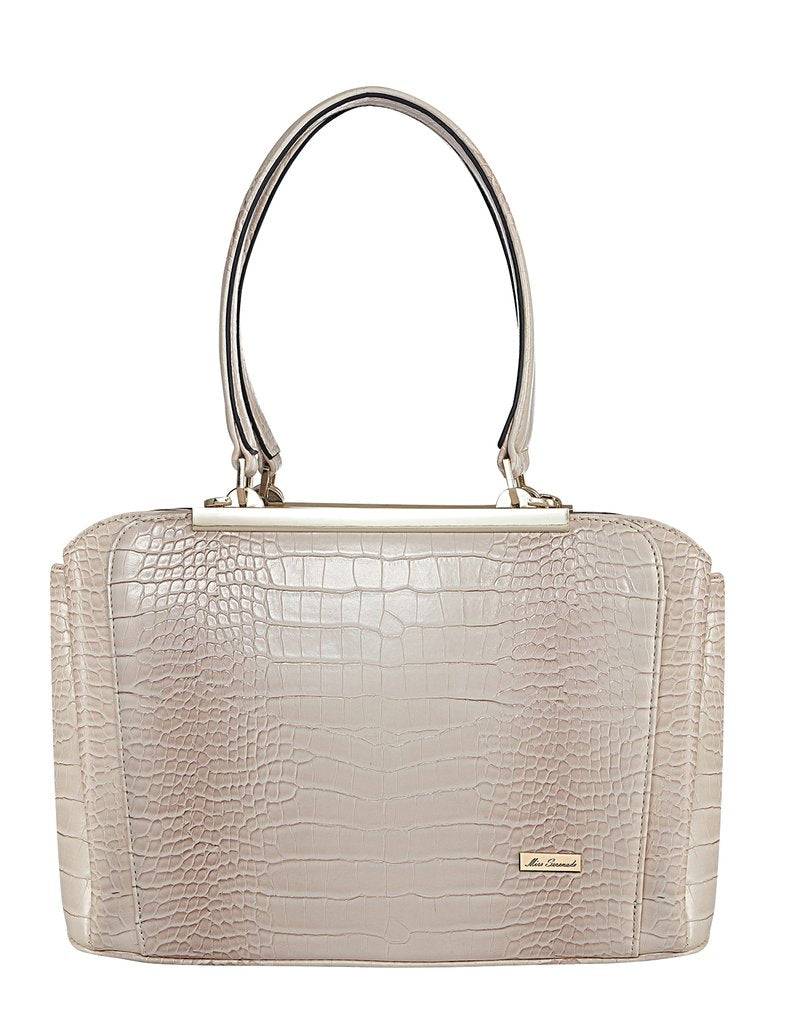 Vanessa Croc Patent Faux leather Handbag
