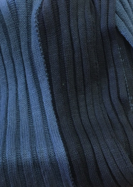 European knitted scarf Blue and Navy