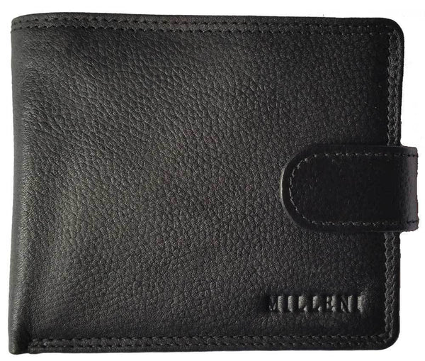 Milleni Black leather wallet
