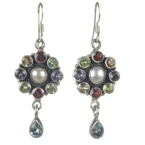Pearl & Gemstone Earrings-Small