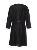 Silk Embroidered Coat-Black