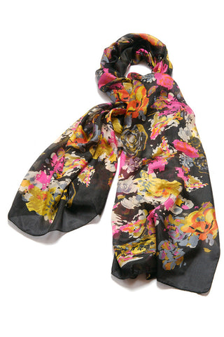 'Wild Flower' Pure Silk Scarf