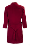 Washable Faux Suede Lightweight Coat - Cherry