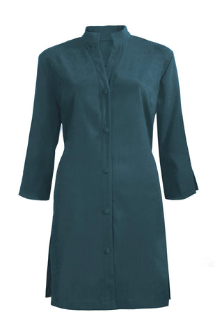Washable Faux Suede Lightweight Coat  - Teal