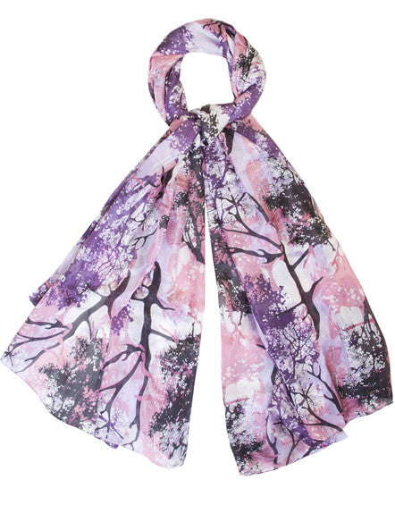 'Enchanted Wood' Pure Silk Scarf