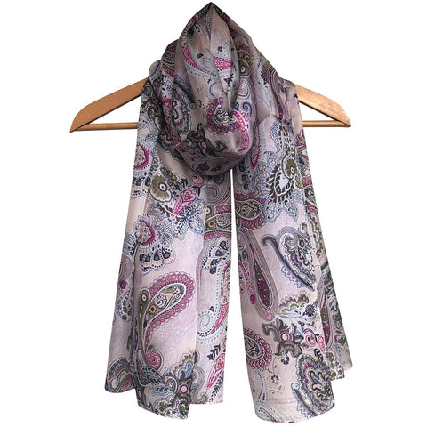 **NEW** 'Classic Paisley' Pure Silk Scarf