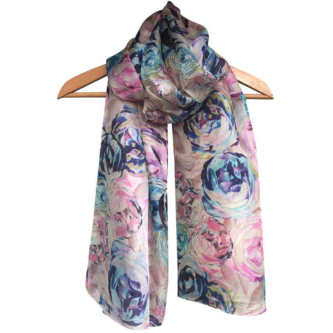 **NEW** 'Summer Rose' Pure Silk Scarf