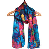 **NEW** 'Blue Flowers' Pure Silk Scarf