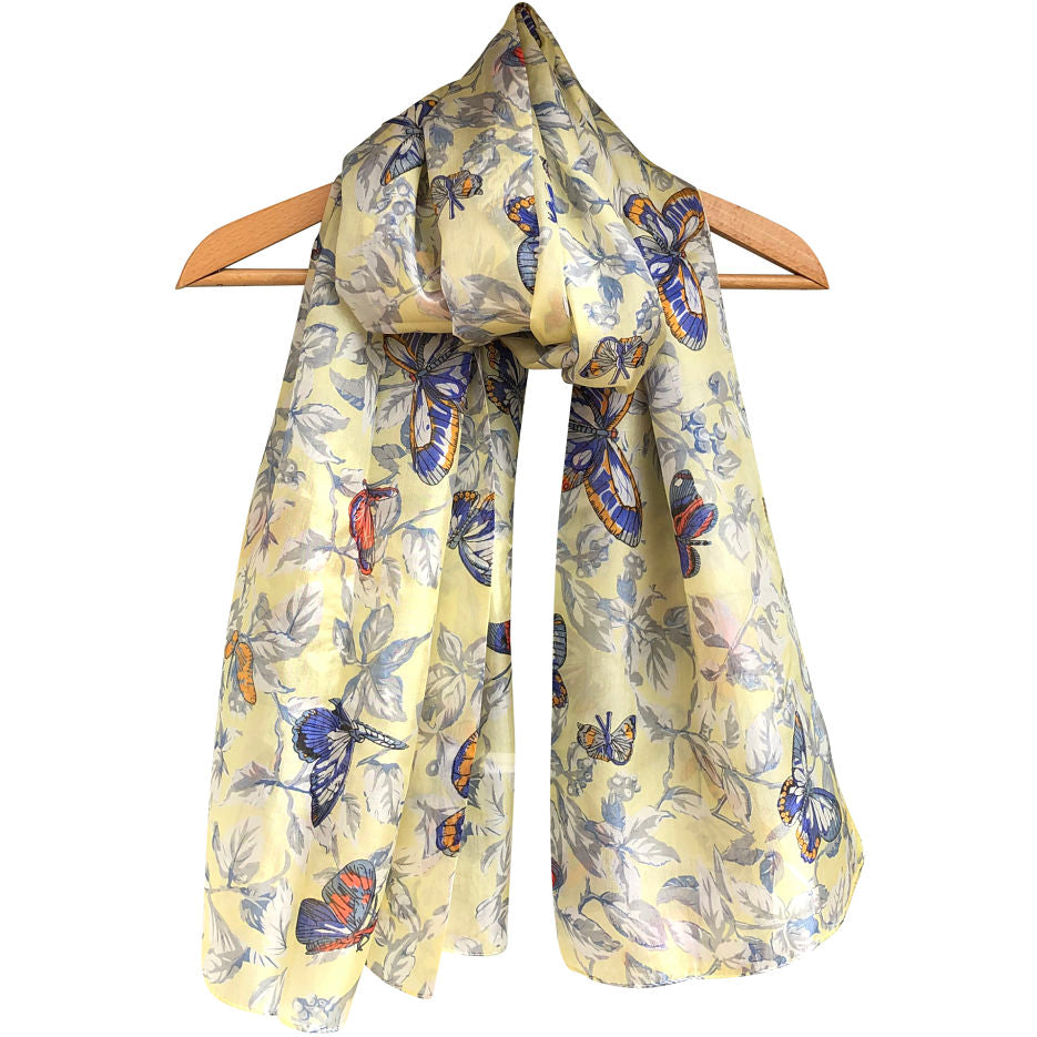'Butterfly' Pure Silk Scarf