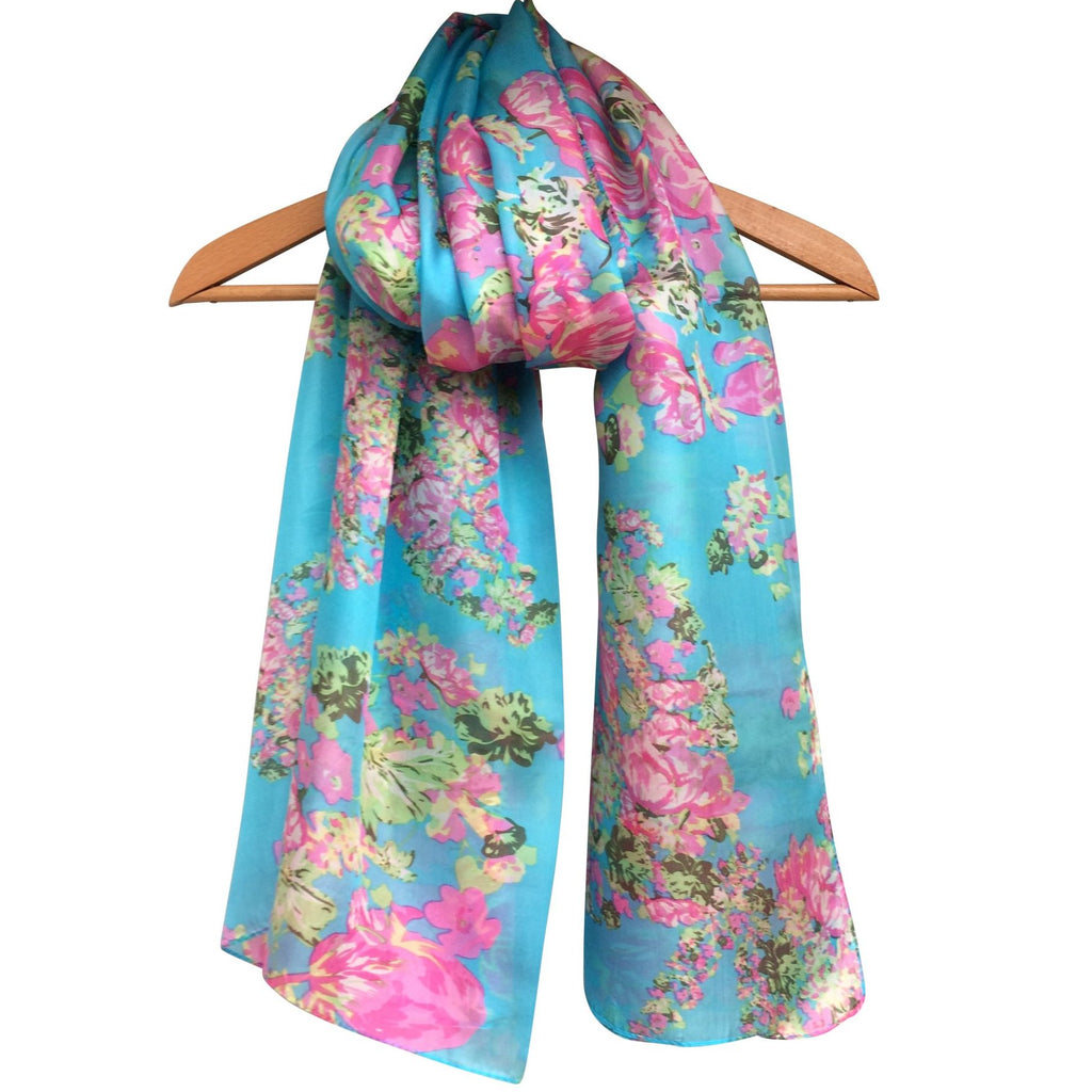 'Vintage Rose' Pure Silk Scarf