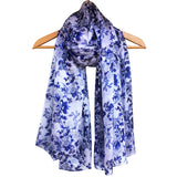 **NEW** 'Delft Blue' Pure Silk Scarf