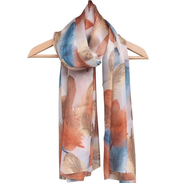 'Fabulous Feathers' Pure Silk Scarf