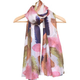 'Feathers' Pure Silk Scarf