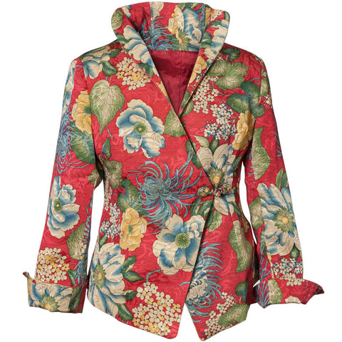 Washable Floral Jacket - Coral