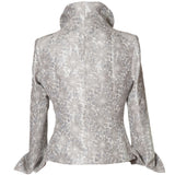 Washable Floral Jacket - Silver