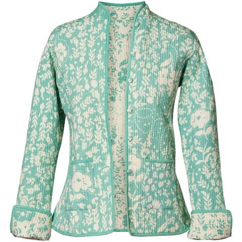 Reversible 'Hampton' Cotton Jacket - Pistachio Green