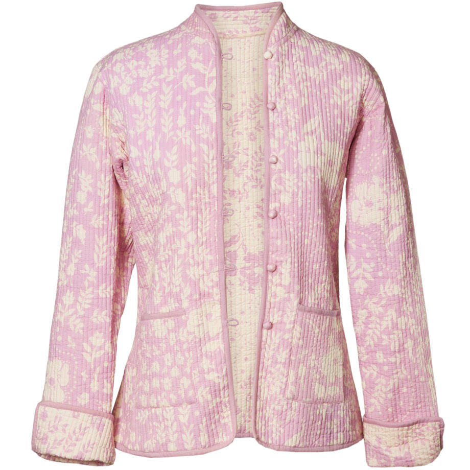 Reversible 'Hampton' Cotton Jacket - Pink