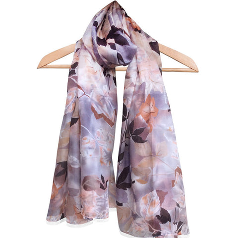 'Lovely Leaves' Pure Silk Scarf