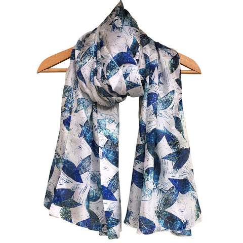 **NEW** 'Lovely Leaves' Pure Silk Scarf