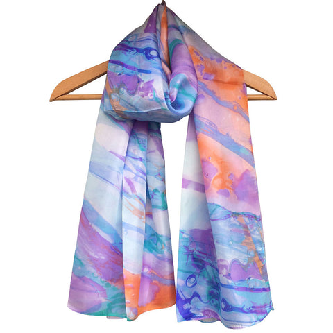 **NEW** 'Marble Print' Pure Silk Scarf