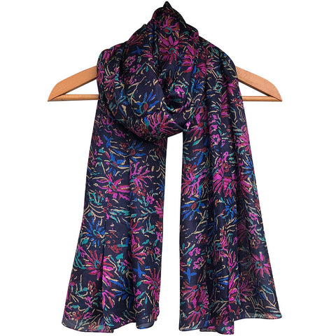 **NEW** 'Midnight Garden' Pure Silk Scarf