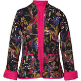 Reversible 'Bird of Paradise' Cotton Jacket - Black