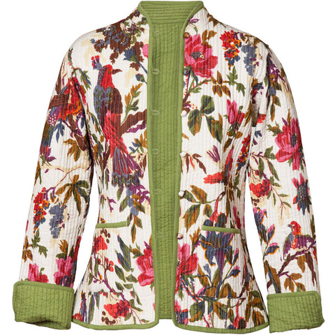 Reversible 'Bird of Paradise' Cotton Jacket - White
